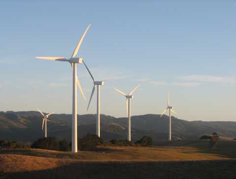 Turbines in bushfire prone regions