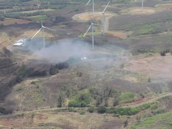 Kahuku wind farm fire spreads concerns over future projects