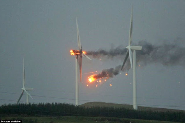 Why did a Scottish wind turbine explode in high winds?