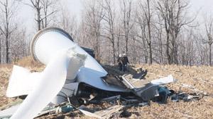 Three million dollar 187 Ton Wind Turbine Crashes From 200 Feet