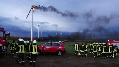 Wind turbine goes up in flames