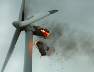 What regulations exist for fire protection in wind turbines?