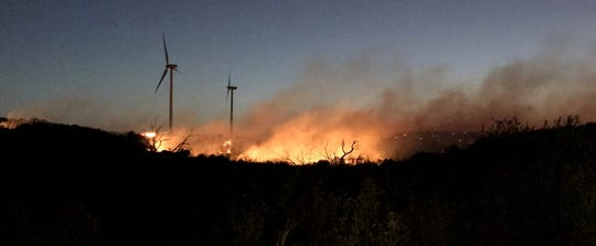 Wind turbine blamed for Rhodes Ranch 3 Fire in Mulberry Canyon south of Merkel